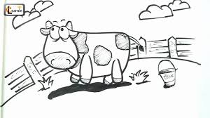 art for kids how to draw a cow drawing for children easy