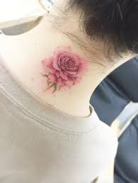 40 beautiful back neck tattoos for women rose tattoo and tatting