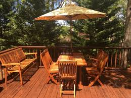 Deck In The Backyard Newly Renovated Home Walk To Colonial Homeaway West Yarmouth