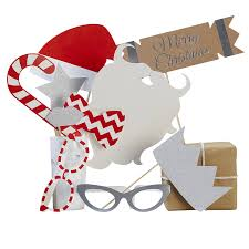 christmas photo booth props christmas sparkle festive photo booth props by