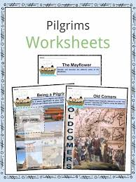 pilgrim worksheets facts information history for