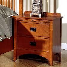mission craftsman oak 2 drawer nightstand nightstands