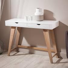 console pour chambre console en bois avec 2 tiroirs pablo kaligrafik home home