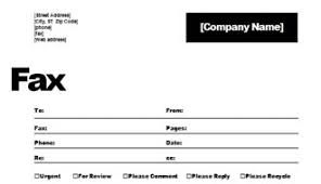 simple business fax with disclaimer and logo