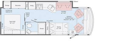 Type B Motorhome Floor Plans Vista Floorplans Winnebago Rvs