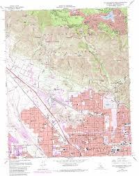 San Bernardino Ca Map San Bernardino North Topographic Map Ca Usgs Topo Quad 34117b3