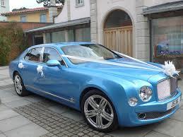 blue bentley mulsanne bentley wedding car in dorset
