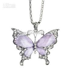 necklace butterfly images Wholesale purple rhinestone butterfly necklace fashion butterfly jpg