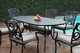 Outdoor Aluminum Patio Furniture Cbm Outdoor Cast Aluminum Patio Furniture 7 Pc Dining
