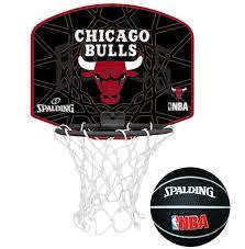 mini panier de basket de bureau spalding mini panier de basket chicago bulls noir pas cher