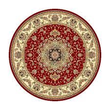 Safavieh Lyndhurst Collection Safavieh Lyndhurst Traditional Oriental Red Ivory Rug 8 U0027 Round