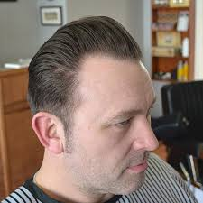 slicked back hair with receding hairline hair style fashion