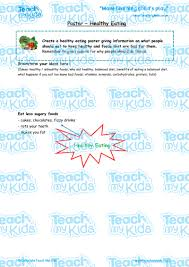 poster healthy eating teach my kids