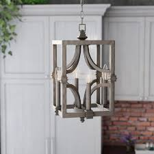 Farmhouse Lighting Pendant Laurel Foundry Modern Farmhouse Freeburg 4 Light Foyer Pendant