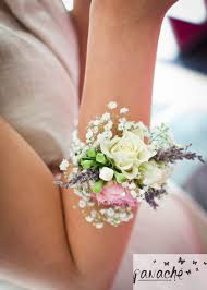 wedding wrist corsage this wrist corsage was created on ivory ribbon with lavender