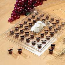 communion plates bible clear plastic stackable communion tray with cover