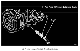 where is the location of the fuel pump oil pressure switch and can