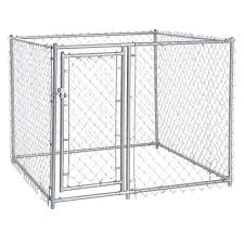 lucky dog 4 u0027h x 5 u0027w x 5 u0027l galvanized chain link modular pc u0027d