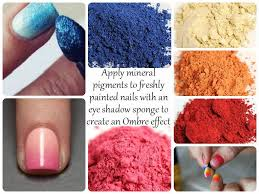 oooh you can use the mineral pigments to create custom nail