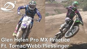pro motocross riders names pro motocross practice at glen helen raceway tomac webb