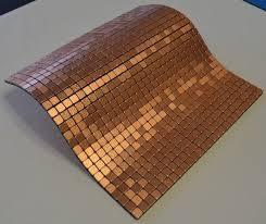 Copper Tiles For Kitchen Backsplash Flexipixtile Aluminum Peel Stick Mosaic Tile Kitchen Backsplash