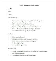Sample Of General Resume by Doctor Resume Templates U2013 15 Free Samples Examples Format