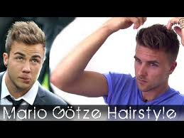 Mario Gotze Hairstyle Soccer Player Haircut Marco Reus Hair Inspired Bleaching