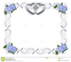 wedding invitation border blue roses stock images image 4314634