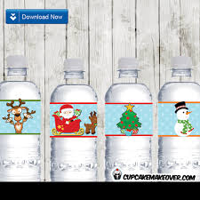 christmas water bottle labels christmas water bottle labels