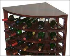 curved corner post with wine rack for the kitchen pinterest