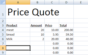 Microsoft Excel Quote Template Speeding Up Your Price Quotes With Microsoft Excel Cogniview