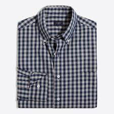 washed shirt in two tone gingham men u0027s shirts j crew factory