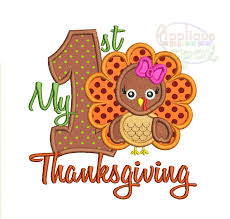 my 1st thanksgiving my thanksgiving applique spot