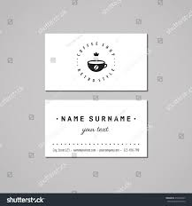 Crown Business Cards Coffee Shop Business Card Design Concept Stock Vector 275462627