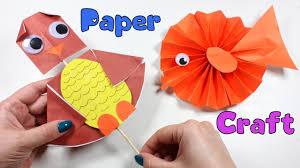 paper craft for kids owl head turning nursery rhymes cute