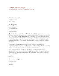 sample cover letter for dean position job and resume template