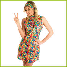 ladies peace u0026 flower hippie hippy fancy dress headband choker