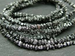 3mm diamond black diamond nuggets 2 3mm 15 strand