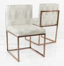 When White Leather Dining Chairs 007 Dining Chair With Rose Gold Frame Dining Chairs Leather And