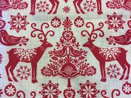 retro modern reindeer paper cut cotton quilting