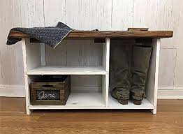 amazon com entryway bench with shoe storage rustic farmhouse