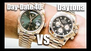 rolex day date 40 vs rolex daytona