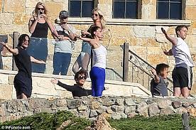 Kris Jenner Live - kris jenner practices yoga with bruce on valentine u0027s day daily