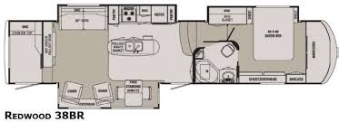Fifth Wheel Floor Plans 5th Wheel Floor Plans With Rear Kitchen Google Search Rv