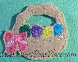 easter felt easter basket for felt applique embroidery design