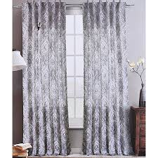 Grey Beige Curtains Envogue Damask Paisley Medallions Pair Of Curtains 2 Window