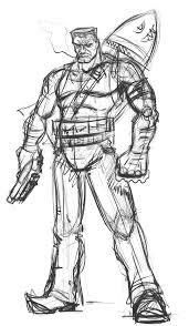 badass characters contest entry1 fullbody sketch by nerdbayne on