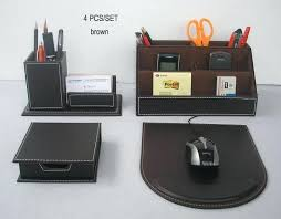 Desk Organizer Leather Leather Office Desk 6 Blocks Holder Leather Office Desk Organizer