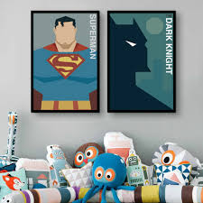 superman home decor aliexpress com buy free shipping framed canvas painting art