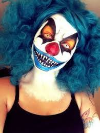Evil Clown Halloween Costume Scary Clown Makeup Halloween Ups